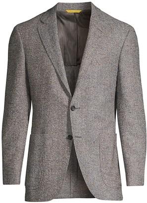Canali Textured Alpaca Wool-Blend Sports Jacket