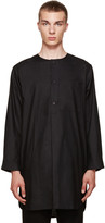 Phoebe English Black Cotton Night Shirt