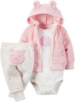 Carter's 3-pc. Bear Hooded Layette Set - Baby Girls newborn-24m
