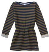 Petit Bateau Long Sleeve Striped Tube Knit Dress