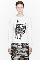 Lanvin Ivory beaded Zebra Sweater