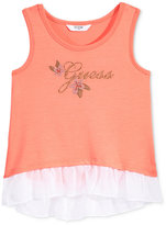 GUESS Peplum-Hem Logo Tank, Toddler and Little (2T-6X)