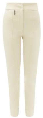 Moncler High-rise Stretch Technical-gabardine Trousers - Ivory