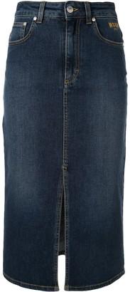 MSGM Mid-Length Denim Skirt