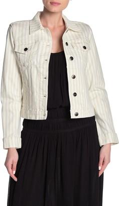 Frame Le Vintage Stripe Denim Jacket