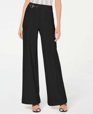 INC International Concepts Inc Petite Side-Belt Wide-Leg Pants, Created for Macy's