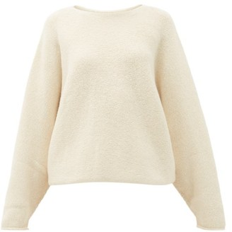 LAUREN MANOOGIAN Wide-neck Alpaca-blend Sweater - White