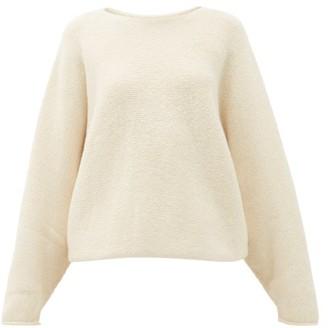 LAUREN MANOOGIAN Wide-neck Alpaca-blend Sweater - Womens - White