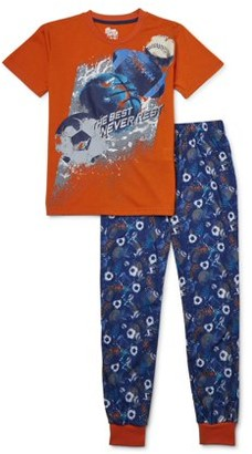 Sleep On It Boys 6-14 Joggers with Short Sleeve, 2-Piece Pajama Set