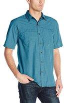 Arrow Men's Short Sleeve Seaside Textured Solid Shirt