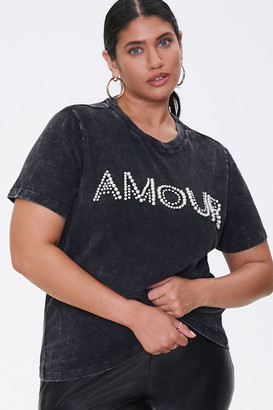 Forever 21 Plus Size Amour Graphic Tee