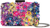 Oscar de la Renta Rogan floral sequin box clutch