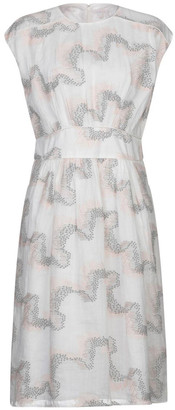 Hoss Intropia White Embroidered Dress - UK16