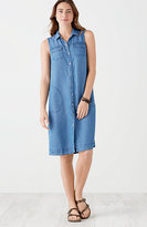 J. Jill Tencel®-Soft Indigo A-Line Dress