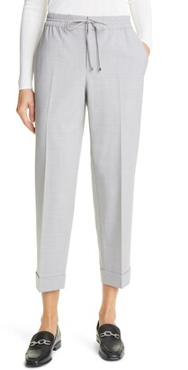 Club Monaco Tie Waist Cropped Pants