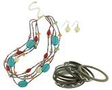 18-Piece Fashion Necklace and Bracelet Set - Multicolor