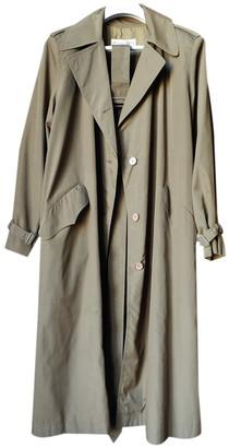 Christian Dior Khaki Viscose Trench coats