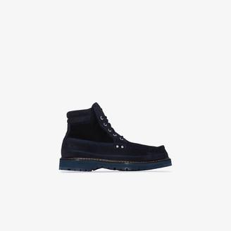 Jacquemus blue Les Chaussures Garrigue suede ankle boots