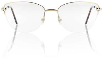 Cartier Eyewear Collection Panthere de Cartier cat-eye glasses