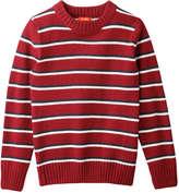 Joe Fresh Kid Boys' Stripe Sweater, Dark Red (Size L)