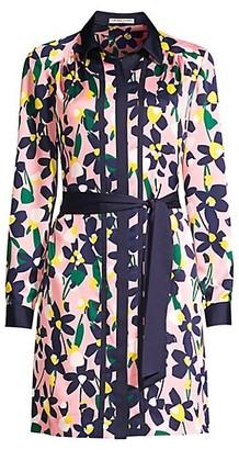 Trina Turk Renew Graphic Floral Shirtdress