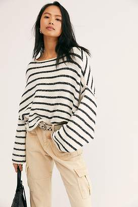 Free People Bardot Stripe Sweater