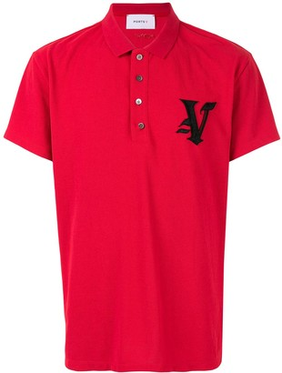 Ports V Embroidered Logo Polo Shirt