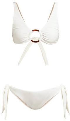 Adriana Degreas Ruched Hoop Bikini - Womens - White