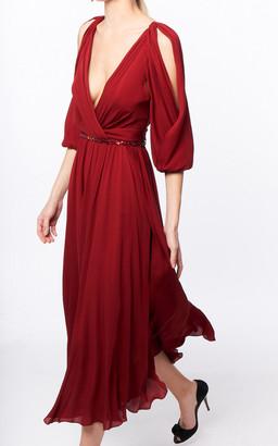 Jenny Packham Silk Road Embellished Crepe De Chine Dress