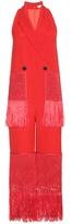 Edun Fringed Wool And Silk-blend Twill Jumpsuit