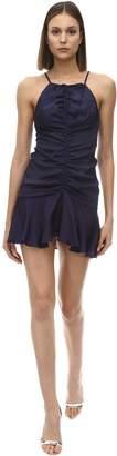 Alice McCall Blue Moon Viscose Satin Mini Dress