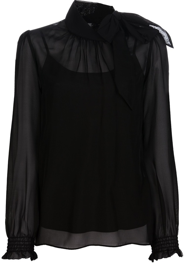 RED Valentino pussybow silk blouse