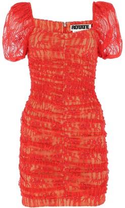 Rotate by Birger Christensen Enya Puff-Sleeve Mini Dress