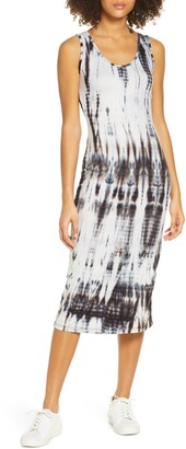 Fraiche by J Sleeveless Tie Dye Midi Dress