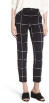 Leith Women's Windowpane Print Skinny Pants