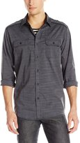 Modern Culture Men's Jasper Crew Raglan Shirt with Stripe Effect and Solid Sleeves