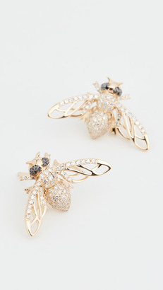 Shay 18k Pave Bee Studs