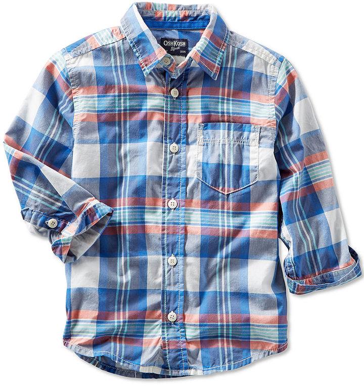 Osh Kosh Little Boys' Plaid Shirt