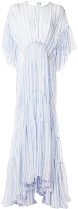Romance Was Born Louis striped tiered gown