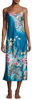 Natori Serene Satin Nightgown, Seaport Blue
