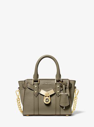 Michael Kors Nouveau Hamilton Extra-Small Pebbled Leather Crossbody Bag