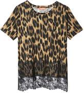 Joe Fresh Women's Lace Hem Tee, Charcoal Mix (Size M)