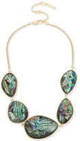 Kenneth Cole New York Gold-Tone Abalone Stone Statement Necklace