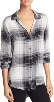 Bella Dahl Frayed-Hem Shirt