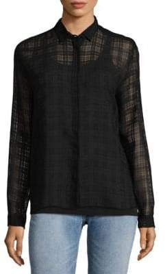 MSGM Grid-Print Button-Down Shirt
