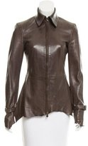 Alexander McQueen Lightweight Distressed Leather Jacket