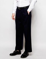 Asos Wide Leg Cropped Smart Trousers In Wool Mix