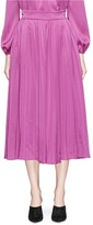 Co Plissé pleated satin maxi skirt