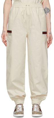 Gucci Off-White Canvas Panama Lounge Pants