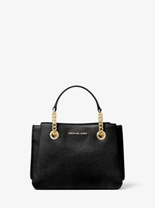 MICHAEL Michael Kors Teagen Small Pebbled Leather Messenger Bag